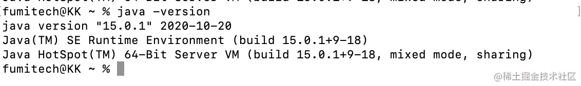检查 JDK 的版本号